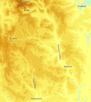 Contour map of peak district
