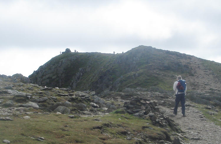 The summit of the Old Man of Coniston, seen from the north